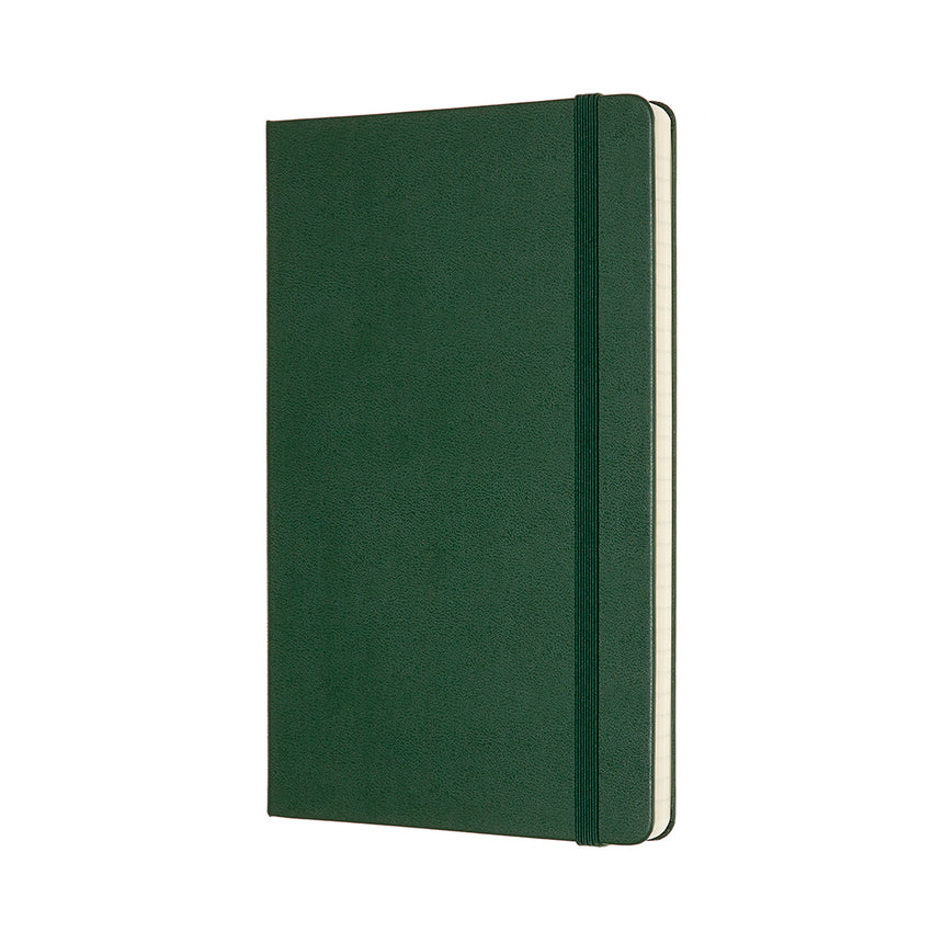 "Moleskine Classic Ruled Notebook Green Hard Cover Large (5"" x 8.25"")"