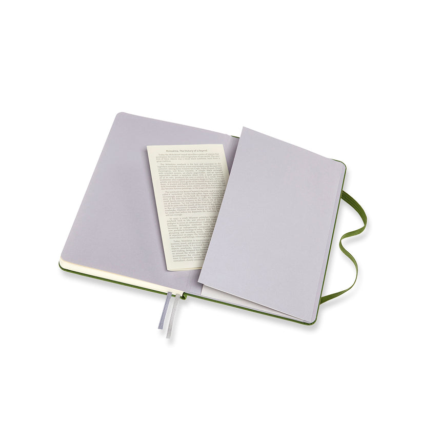 Two-Go Notebook Plain and Ruled Fabric Cover Forest MED