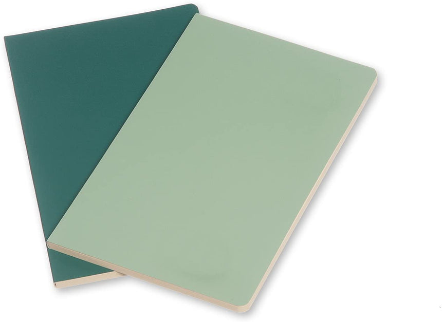 "Moleskine Volant Journals (Set of 2)  Ruled, Sage Green (Soft Cover) (3.5"" x 5.5"")"