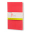 "Moleskine Volant Journals (Set of 2) Plain Soft Cover Geranium Red (5"" x 8.25"")"