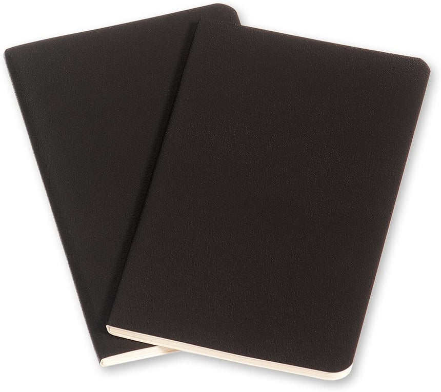 "Moleskine Volant Journals (Set of 2) Ruled Soft Cover Pocket Black (3.5"" x 5.5"")"