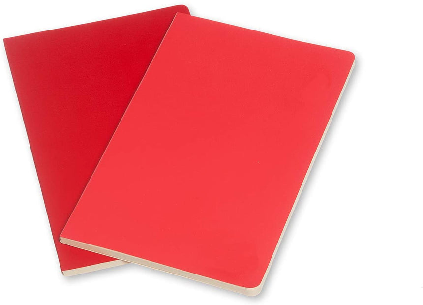 "Moleskine Volant Journals Ruled Geranium Red Soft Cover Small (3.5"" x 5.5"") - Set of 2"