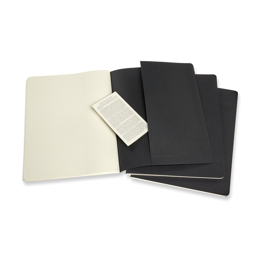 "Moleskine Cahier Dotted Journals XXL (8.5"" x 11"") Set of 3"