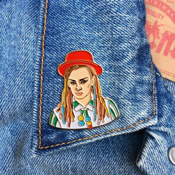 The Found Boy George Pin