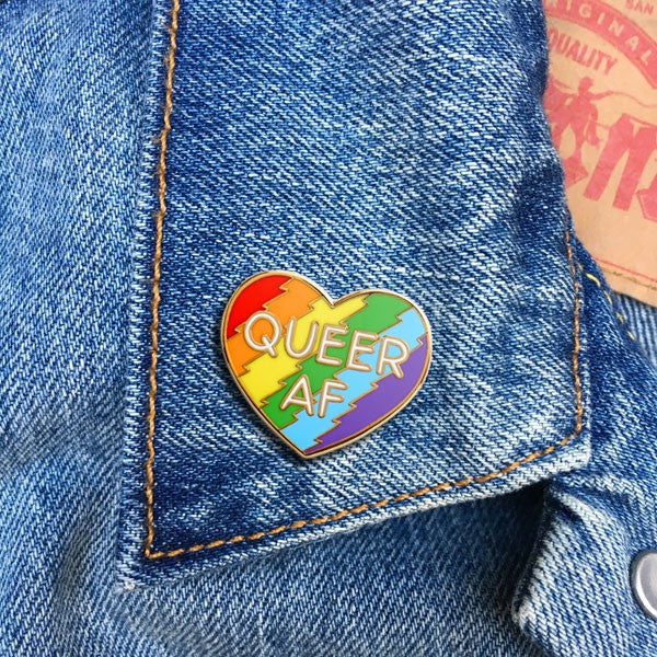 The Found Queer AF Pin
