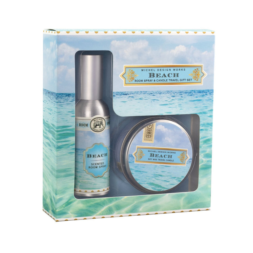 Beach Room Spray & Candle Travel Gift Set