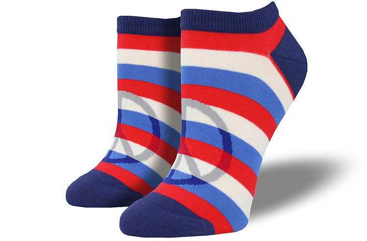 "Women's ""Toe-Tally Peaceful"" Ped Socks in Navy"