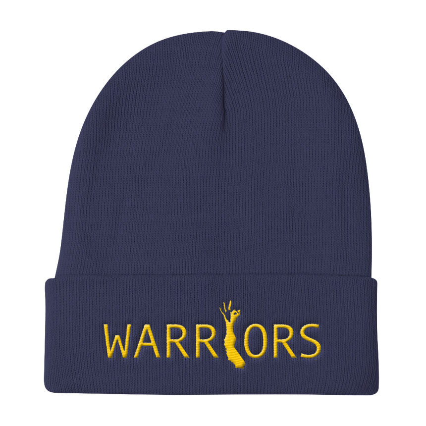 Warriors Beanie Blue