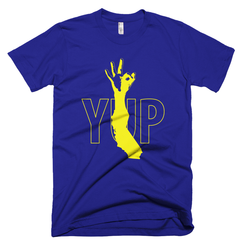 YUP Warriors Unisex/Men's Tee in Blue