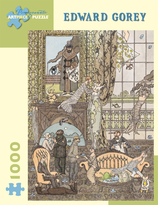 Edward Gorey Tea Party 1000-pieces Puzzle