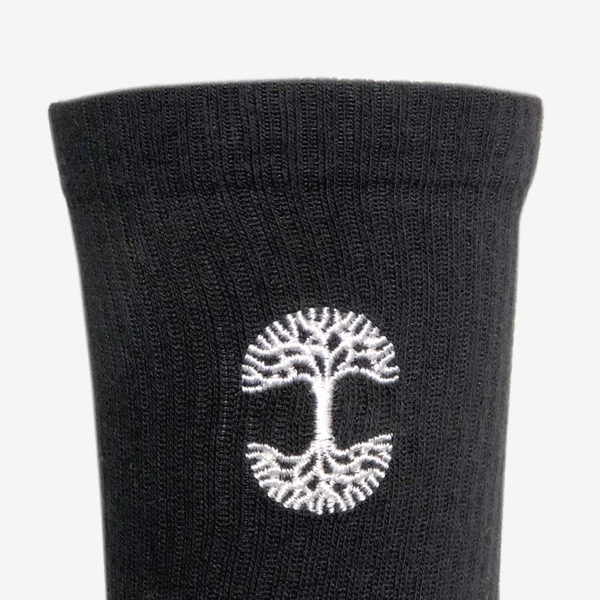 Embroidered Logo Black Sock