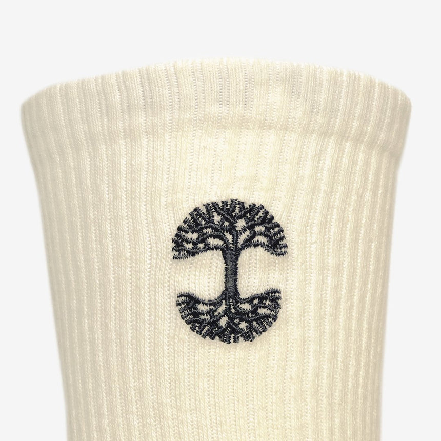 Embroidered Logo Cream Sock
