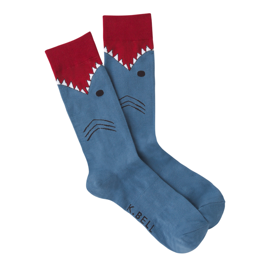 Men's Shark Crew Socks in Slate Blue