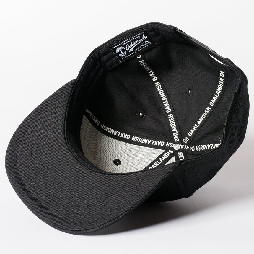 Oaklandish Classic Snapback Black with Silver