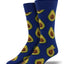 "Men's ""Avocado"" Socks in Royal Blue"