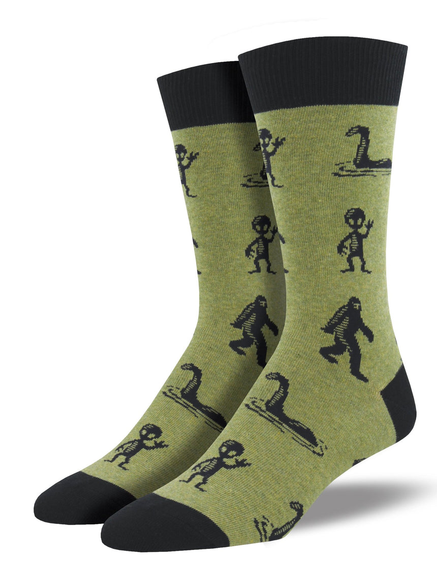 "Men's ""I'm A Believer"" Socks in Heather Olive"