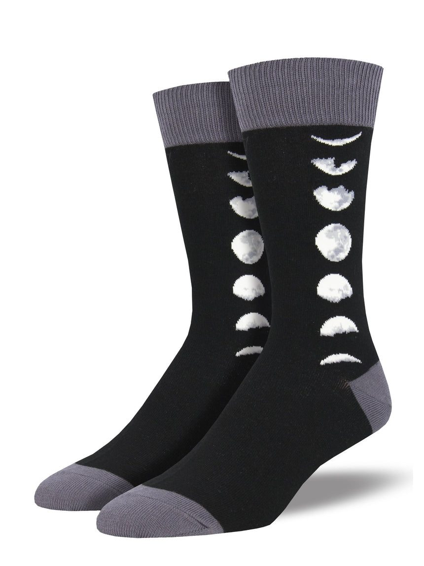 "Men's ""Just A Phase"" Socks in Black"