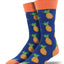 "Men's ""Many Pineapples"" Socks in Navy"