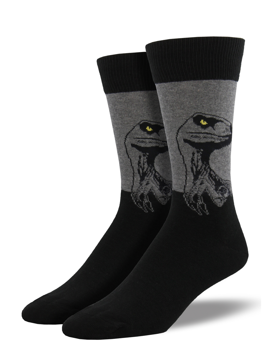 "Men's ""Raptor"" Socks in Heather Grey"