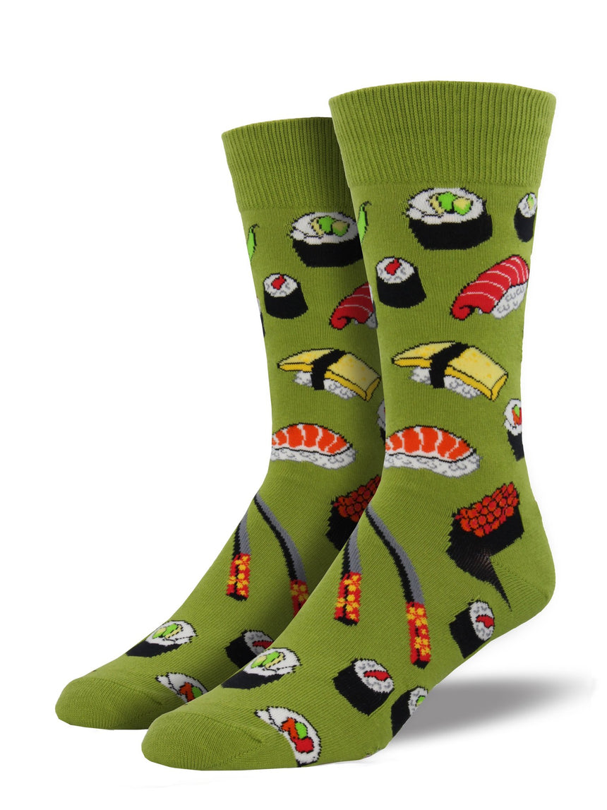 "Men's ""Sushi"" Socks in Fern Green"