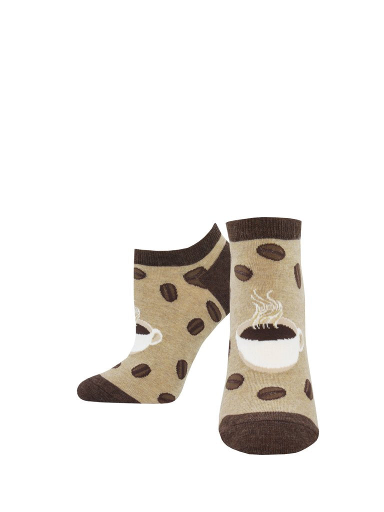 "Women's ""Brewtiful Day"" Ped Socks in Hemp"