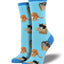 Women's Cat In A Box Socks in Azure