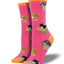 Women's Cat in A Box Socks in Pink