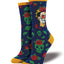 "Women's Frida Kahlo ""Dia De Los Frida"" Socks in Navy"