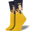 Women's Pensive Frida Socks in Yellow