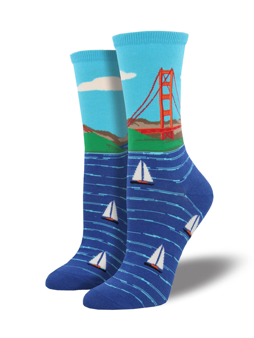 "Women's ""Golden Gate Bridge"" Socks"
