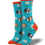 Women's Guinea Pigs Socks in Turquoise