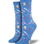 "Women's ""Meds"" Socks in Cornflower Blue"
