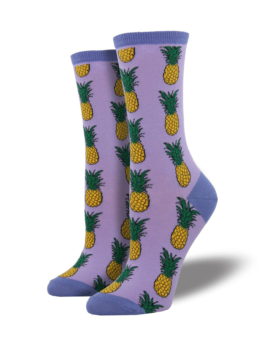Women's Pineapple Socks in Lavender