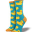 Women's Rubber Ducky Socks in Turquoise