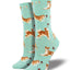 Women's Shiba Inu Socks in Mint Heather