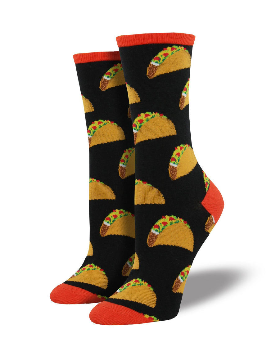 Women's Tacos Socks in Black