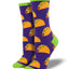 Women's Tacos Socks in Purple