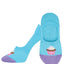 "Women's ""You Bake Me Crazy"" Ankle Socks in Sky Blue"