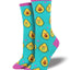 "Women's ""You Guac My World"" Socks in Teal"