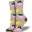 "Women's ""Cat-Feinated"" Socks in Hemp Heather"