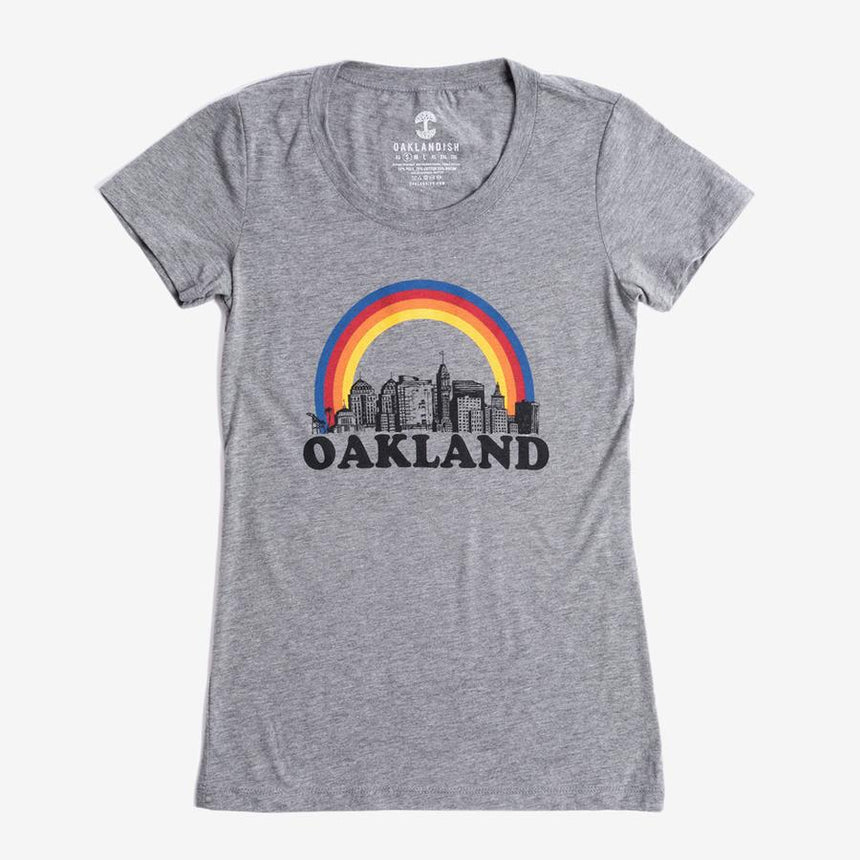 Oaklandish Women's Somewhere Tee in Heather Grey