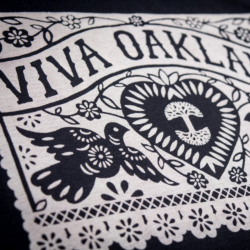 Oaklandish Women's Viva Oakland Shirt in Black