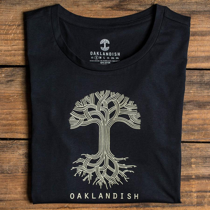 Women's Oaklandish Classic Logo Tee in Black