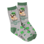 Women's St Patrick's Day Pug Crew Socks In Gray Heather