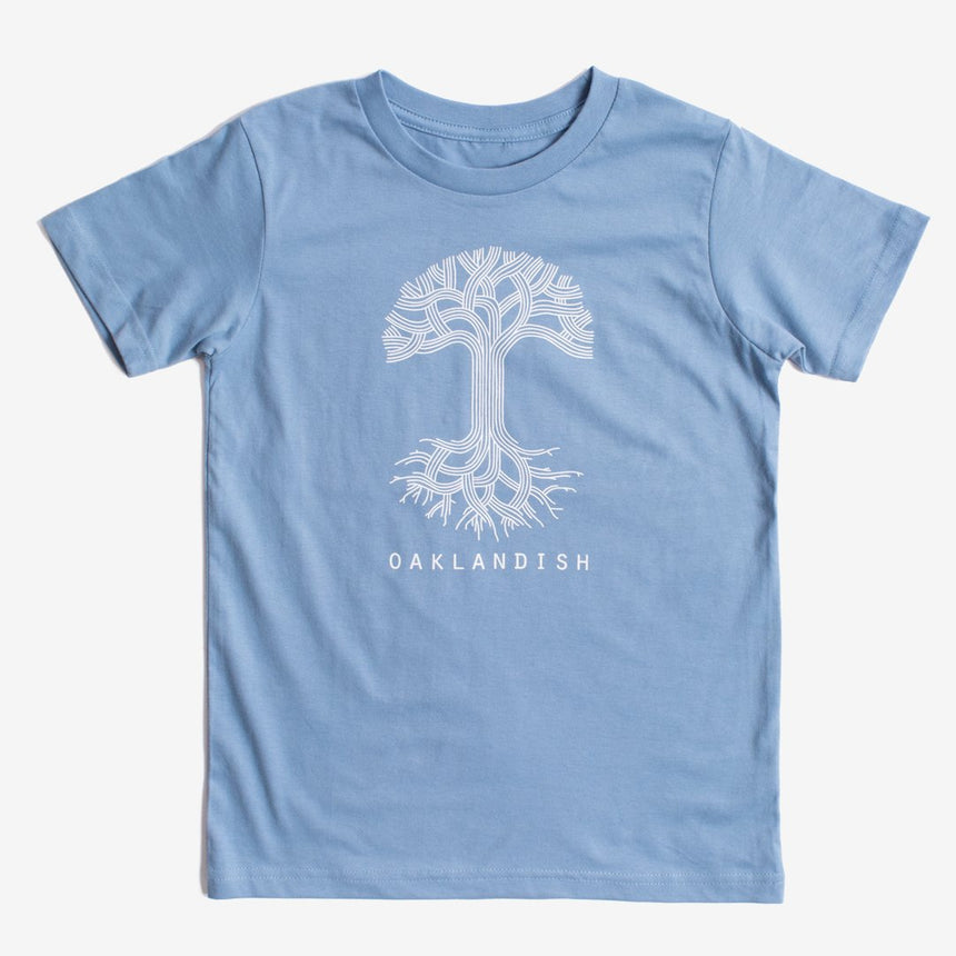 Oaklandish Youth Classic Logo Tee in Carolina Blue