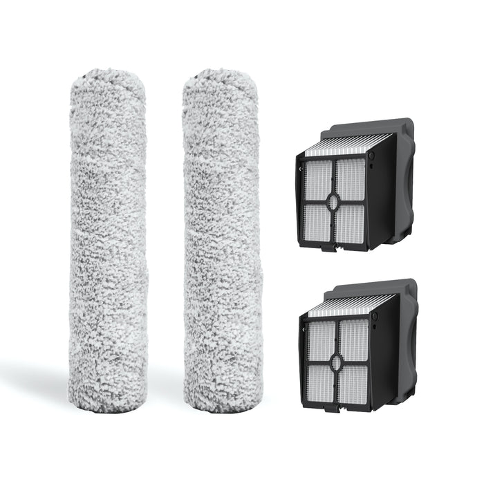Tineco FLOOR ONE S3/IFLOOR 3 Replacement Brush Roller Kit-2x Brush Roller & 2x HEPA Assy