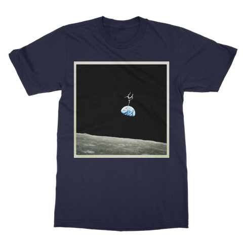 EarthRise Ballerina Classic Adult T-Shirt Printed in UK