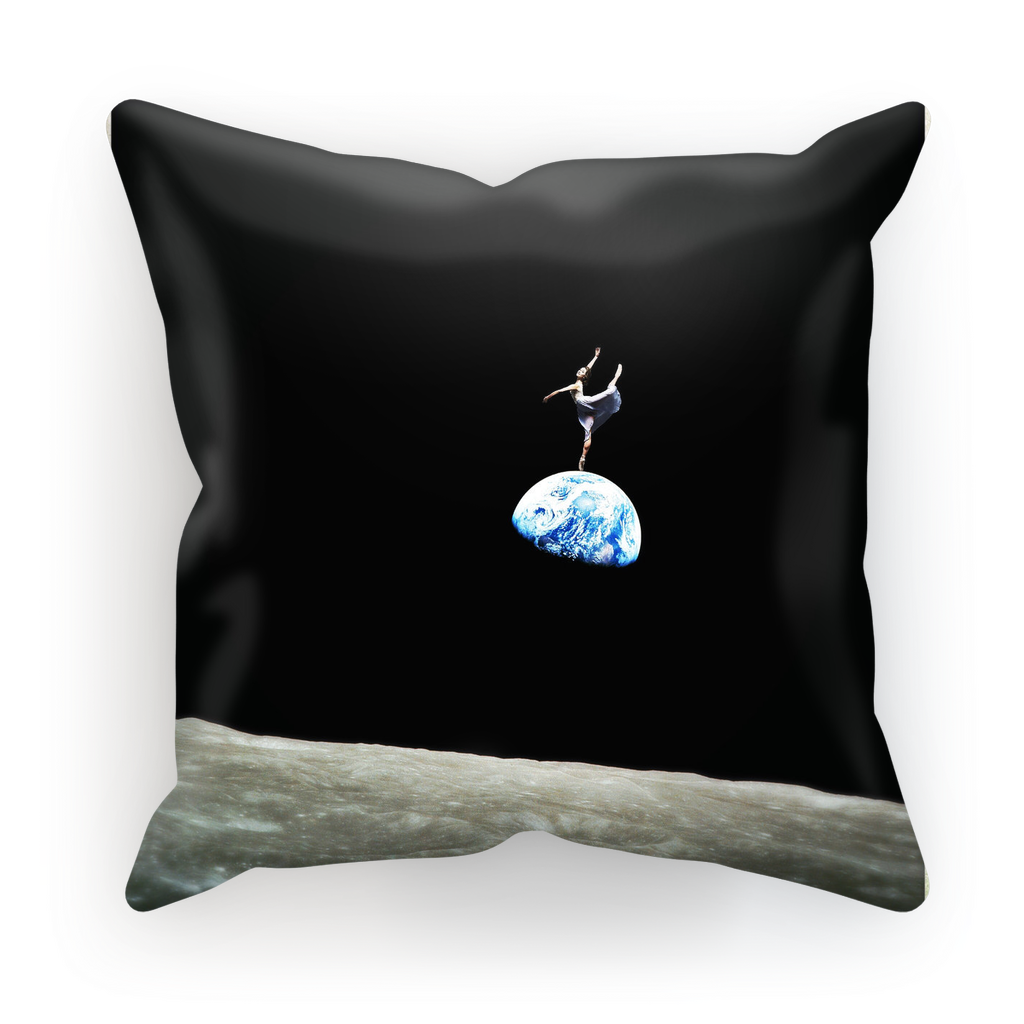 EarthRise Ballerina Sublimation Cushion Cover