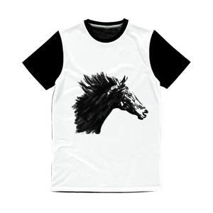 Black Horse Classic Sublimation Panel T-Shirt