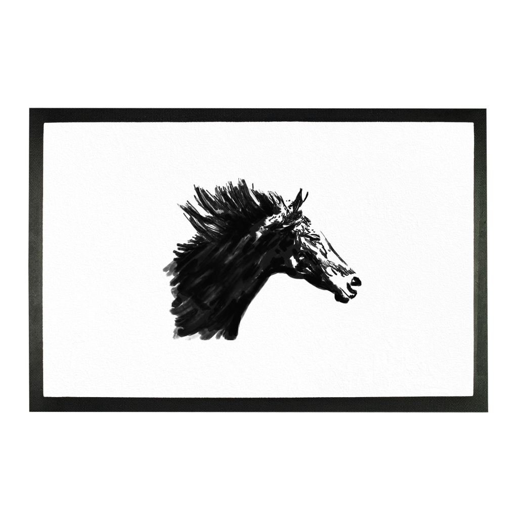 Black Horse Sublimation Doormat